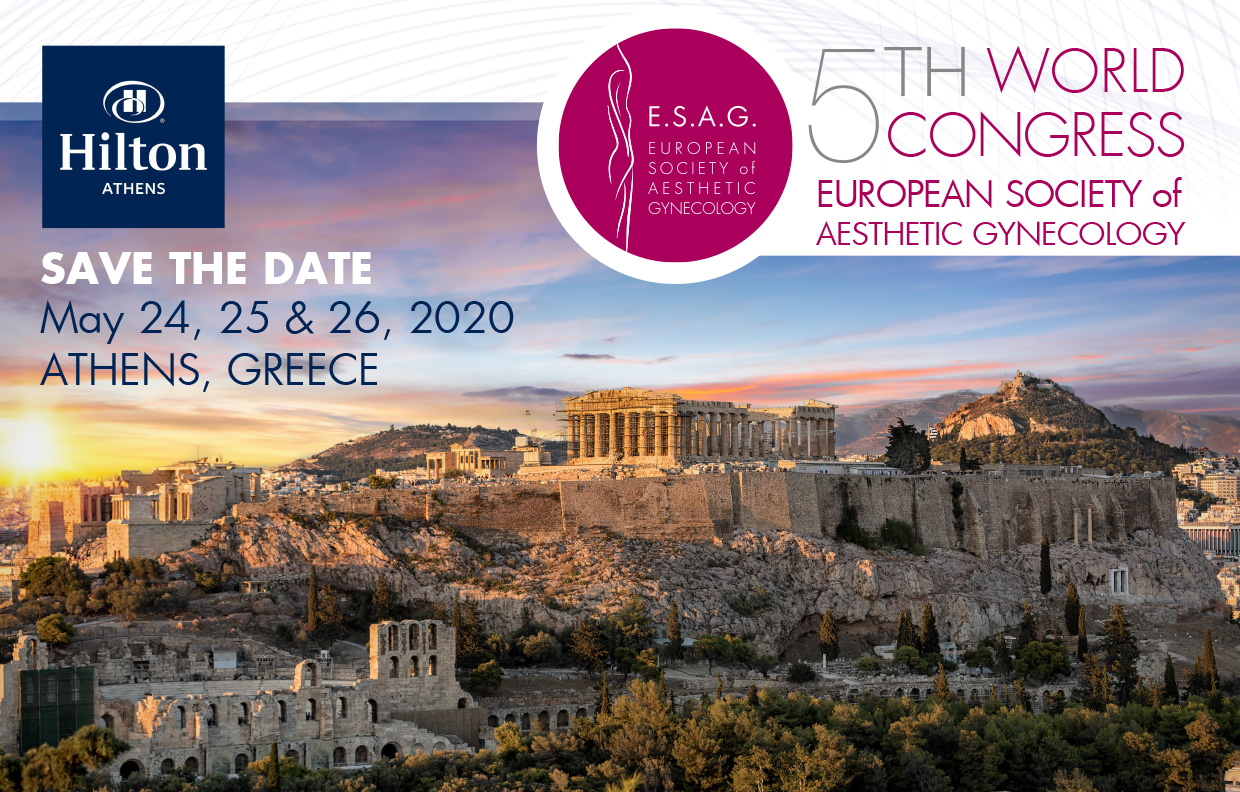 ESAG 5th World Congress |Registrations are open |May 24th to 26th, 2020-Athens, Greece | Register Early and Save, Special Opening Fees ends 30/11/2019